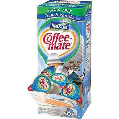 Nestlé Coffee-mate Sugar Free Liquid Coffee Creamer Singles, French Vanilla, 50/Box