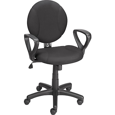 Staples Loughton Petite Fabric Task Chair, Black