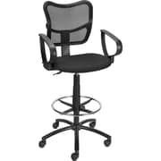 Staples Mesh Back Drafting Stool, Black