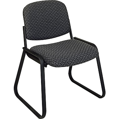 Office Star Deluxe Sled Base Armless Guest Chair, Onyx