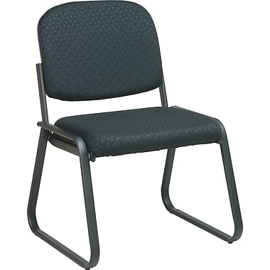 Office Star Deluxe Sled Base Armless Guest Chair, Midnight