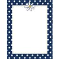 Navy Dots & Daisy Stationery