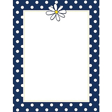 Great Papers Navy Dots & Daisy Letterhead, 80 count