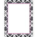 Black & White Damask Stationery