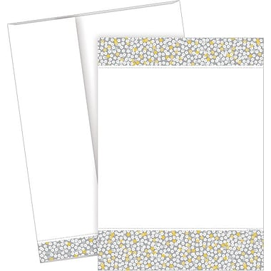 Great Papers® Tiny Grey Flowers Flat Cards with Envelopes