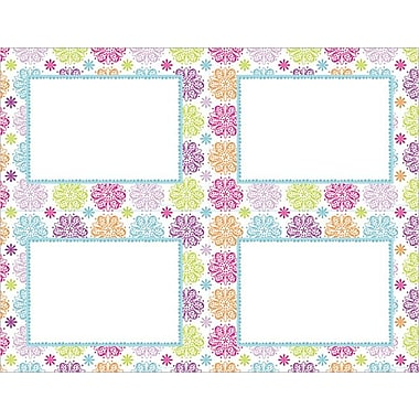 Great Papers® Patterned Flowers 4-Up Postcards