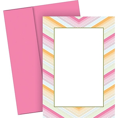 Great Papers® Soft Chevron Flat Cards with Envelopes