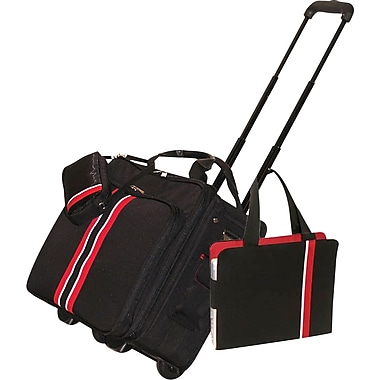 WIB Rolling Travler laptop Case, Black, 17.3