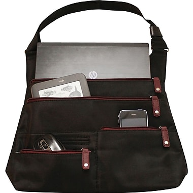 WIB LA City SLim 10in. Tablet,  Black with Scarlet Zipper Lining
