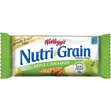Kellogg's Apple Cinnamon Flavored Nutri-Grain Bars, 1.3 oz. Bars, 16 Bars/Box