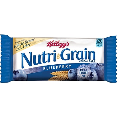 Kellogg's Blueberry Flavored Nutri-Grain Bars, 1.3 oz. Bars, 16 Bars/Box