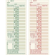 "Adams® Double-Sided Time Cards, Model 9675, 3-3/8"" x 9"""