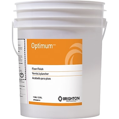 Brighton Professional™ Optimum™ Floor Care Floor Finish 19% Solids, 5 gal., Pail