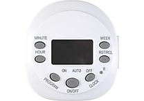 Staples 7 Day Digital Outlet Timer, White