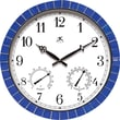 "Infinity Instruments Clarion Blue 17.5"" Blue Tile Indoor/Outdoor Clock"
