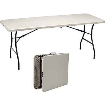 Staples 6ft. Fold in Half Folding Table