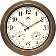 Infinity Instruments The Craftsman 18in. Round Clock, Metal/Bronze