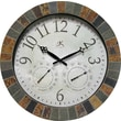 Infinity Instruments The Inca 18in. Round Clock, Slate Mosaic