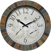 "Infinity Instruments® The Inca 18"" Round Clock, Slate Mosaic"