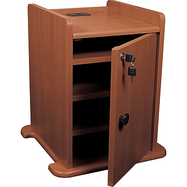 Balt Presentation Cart Cabinet, Cherry
