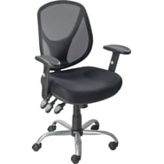 Staples Acadia Ergonomic Mesh Task Mid-Back Chair, Black