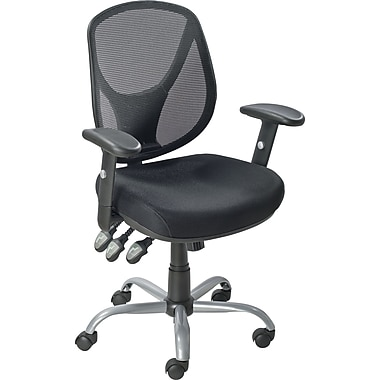 Staples Acadia Ergonomic Mesh Mid-Back Office Chair with Arms, Black