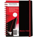 Black N' Red Polypropylene Notebooks with Elastic Strap