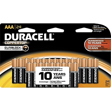 Duracell Coppertop AAA Alkaline Batteries, 24/Pack