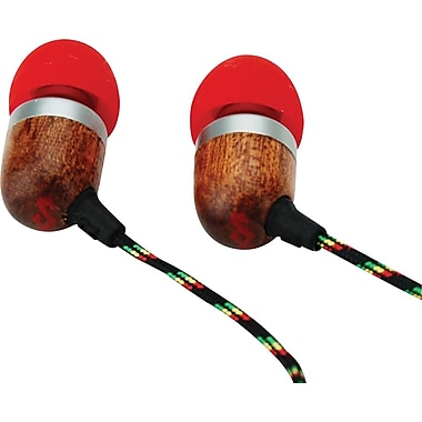 Marley Jammin' In-Ear Stereo Headset, Fire