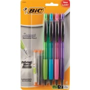 BIC® Atlantis Metal Pencil Fashion Barrels, 0.7mm, 4/Pack