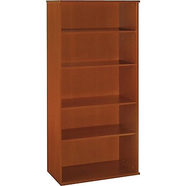 Bush Westfield 5-Shelf Bookcase, Auburn Maple/Graphite Gray, Fully assembled