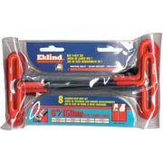 Eklind® Tool 10 Pieces Cushion Grip Hex T-Key Set, Steel, 3/32 - 3/8""