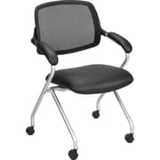 Staples® Centeno™ Mesh/Luxura Guest Chair, Black