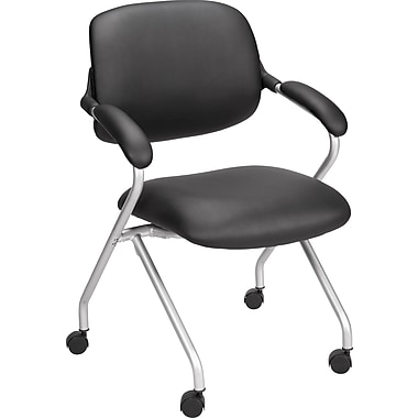 Staples Wheelock Luxura Guest Chair, Black