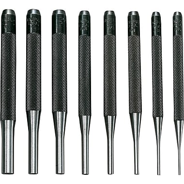 General® Tools 8 Pieces Drive Pin Punch Set, Tool Steel, 1/16 - 5/16in.