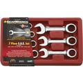 GearWrench® 7 Pieces 12 Point SAE Stubby Combination Ratcheting Wrench Set, 3/8in. - 3/4in.
