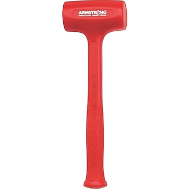 Armstrong® Tools Dead Blow Standard Head Hammer, 2in. Face Diameter, 12-3/4in., Hot Cast Urethane, 21 oz