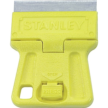 Stanley® High Visibility Mini-Razor Blade Scraper, 1 1/2in. Size, High Carbon Steel, 1 13/16in.