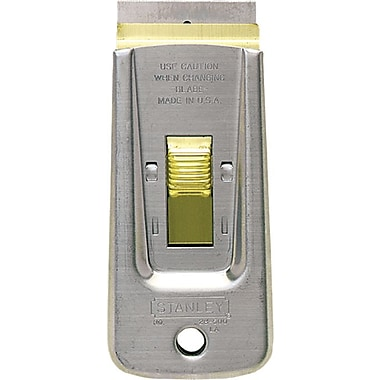 Stanley® Retractable Razor Blade Scraper, 3 3/4in. Length, High Carbon Steel, 1 1/2in.