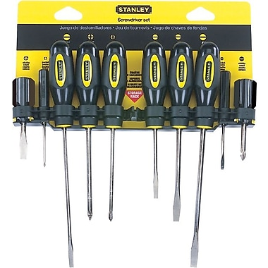 Stanley® 10 Pieces Standard Fluted Screwdriver Set