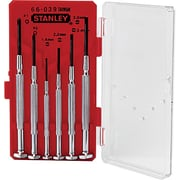 Stanley® 6 Pieces Precision Short Jewelers Screwdriver Set, #0 - #1 Tip Size, 1.4 - 3 mm