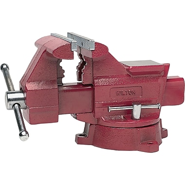 Wilton® Tools Heavy duty Utility Vise, 5 1/2in. Max Opening, 180° Swivel, 1/8 - 2 1/2in.