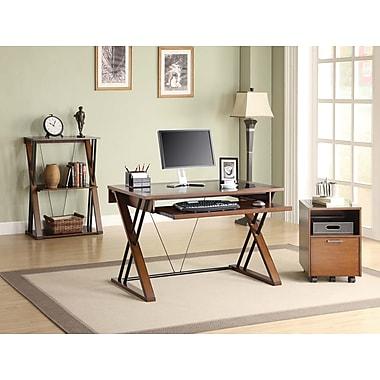 Whalen 174 Astoria Computer Desk Brown Cherry Staples 174