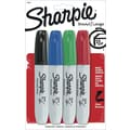 Sharpie® Chisel Tip Permanent Markers, Assorted, 4/Pack