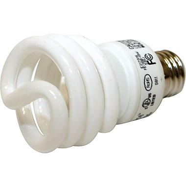 18 Watt VChoice T2 Spiral CFL Bulbs, Bright White, 6/Pack