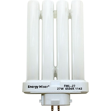 27 Watt Bulbrite Double Twin Tube CFL Bulbs, Daylight White, 2/Pack