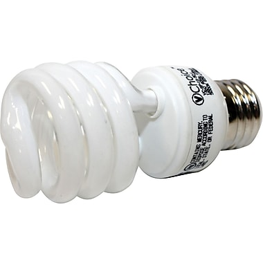 13 Watt VChoice T2 Spiral CFL Bulbs, Bright White, 6/Pack