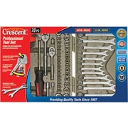 Cooper Hand Tools Crescent® 70 Pieces Socket and Tool Set With Hard Case and Wrap