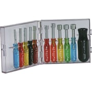 "Cooper Hand Tools Crescent® Xcelite® 11 Pieces Compact Convertible Hex Nut Driver Set, 3/32 - 3/8"""