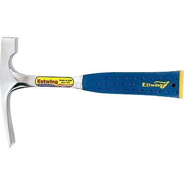 Estwing® Smooth Face Bricklayer Or Mason's Hammer With End Cap, Steel, 11